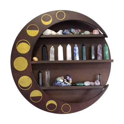 Wooden Floating Moon Phase Shelf