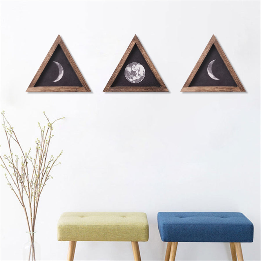 Wood Wall Moon Phases Shelf Decor
