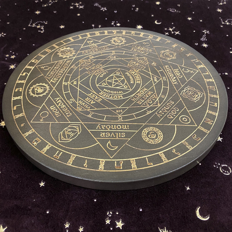 Wicca Altar Witch Divination Carved Astrolabe