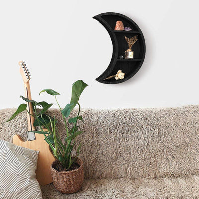 Wicca Shelf Set Moon Phase Wood Shelves Wall Shelf MoonChildWorld