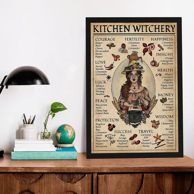 Kitchen Witchery Woman Witch Poster Canvas Canvas MoonChildWorld