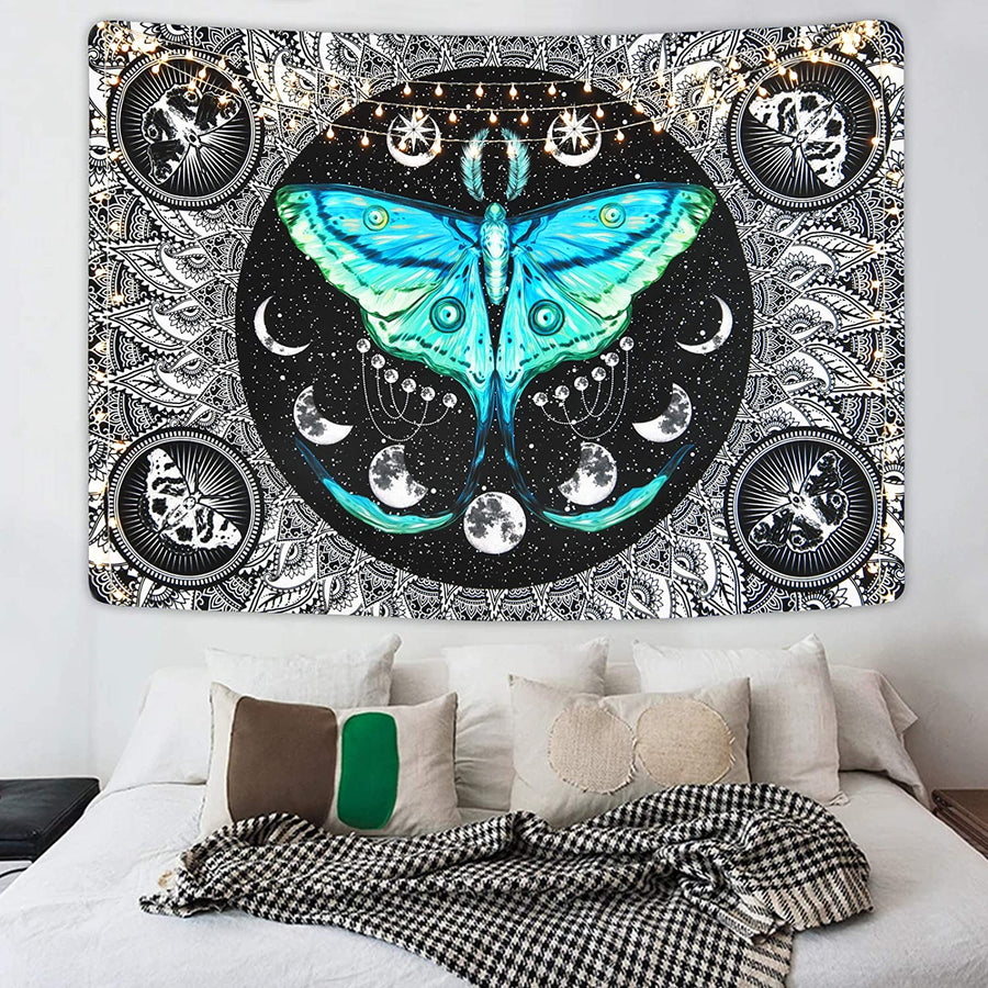 Witch Moth Moon Phase Tapestry