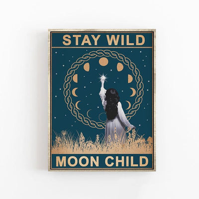 Stay Wild Moon Child Wicca Canvas Canvas MoonChildWorld