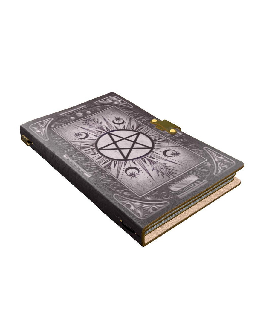 Pentacle wicca leather notebook