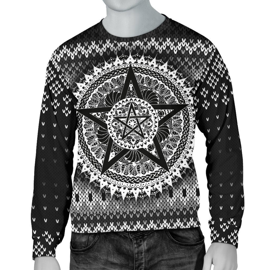 Pentagram Wicca Christmas Sweater Sweater MoonChildWorld