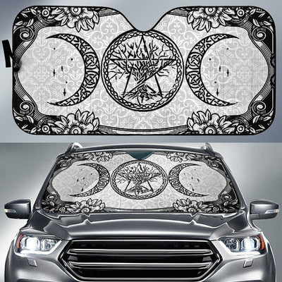 Triple moon wicca Auto Sun Shades Auto Sun Shades MoonChildWorld