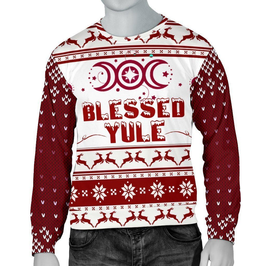 Blessed Yule Wicca Christmas Sweater Sweater MoonChildWorld