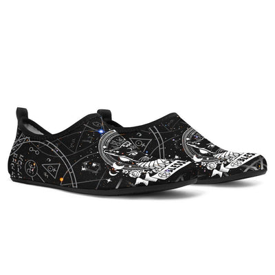 Blessed Be cat wicca aqua shoes Shoes MoonChildWorld Women's Aqua Shoes - Blessed Be US 3-4 / EU34-35