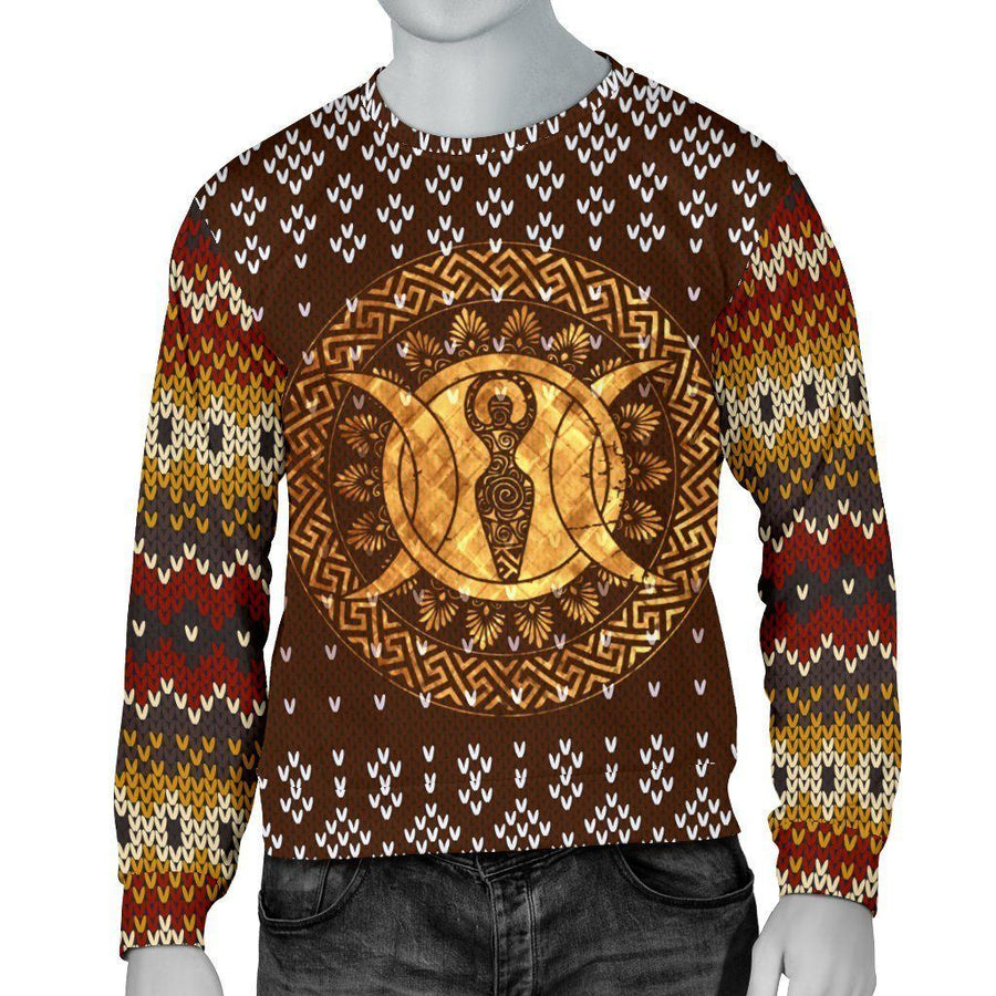 Goddess moon Wicca Christmas Sweater Sweater MoonChildWorld