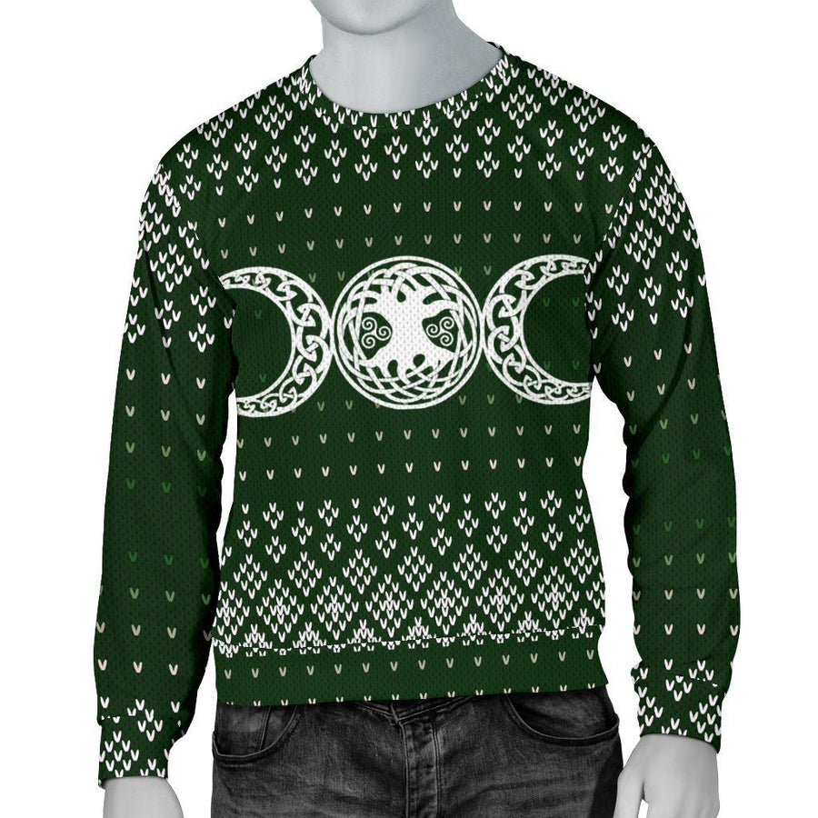 Triple moon Wicca Christmas Sweater Sweater MoonChildWorld