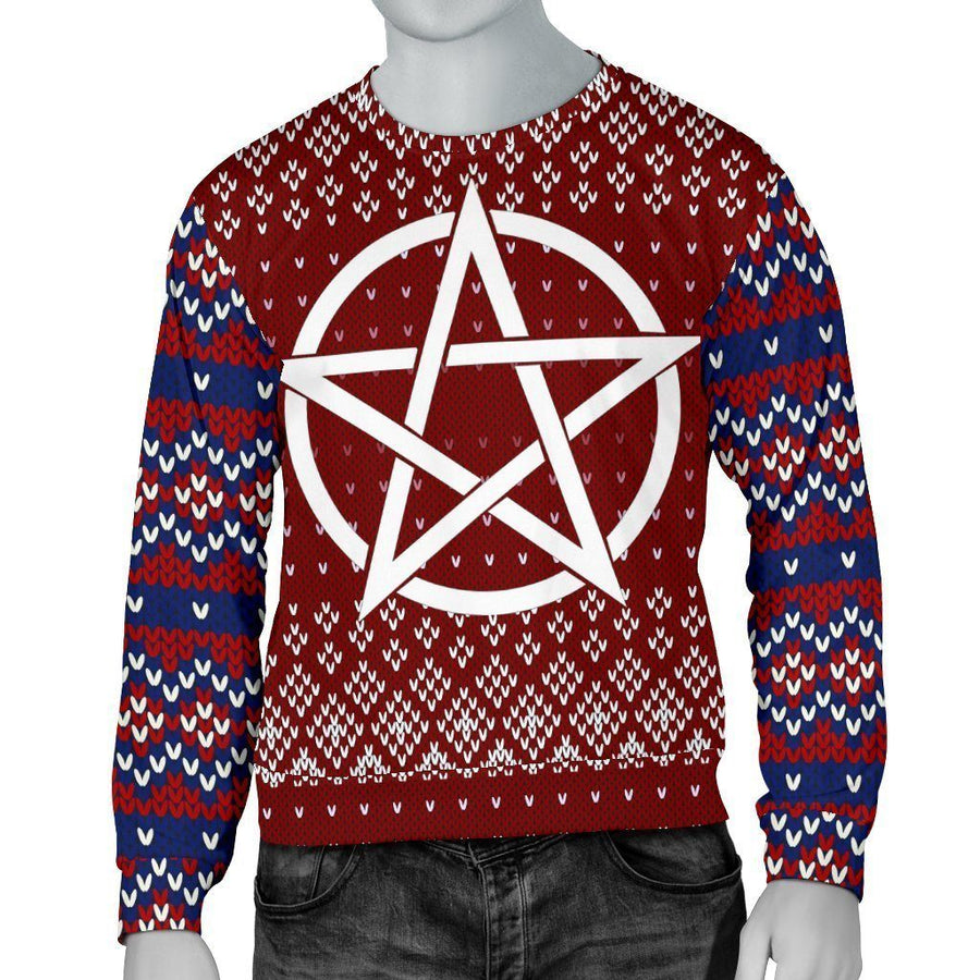 Pentacle Wicca Christmas Sweater Sweater MoonChildWorld