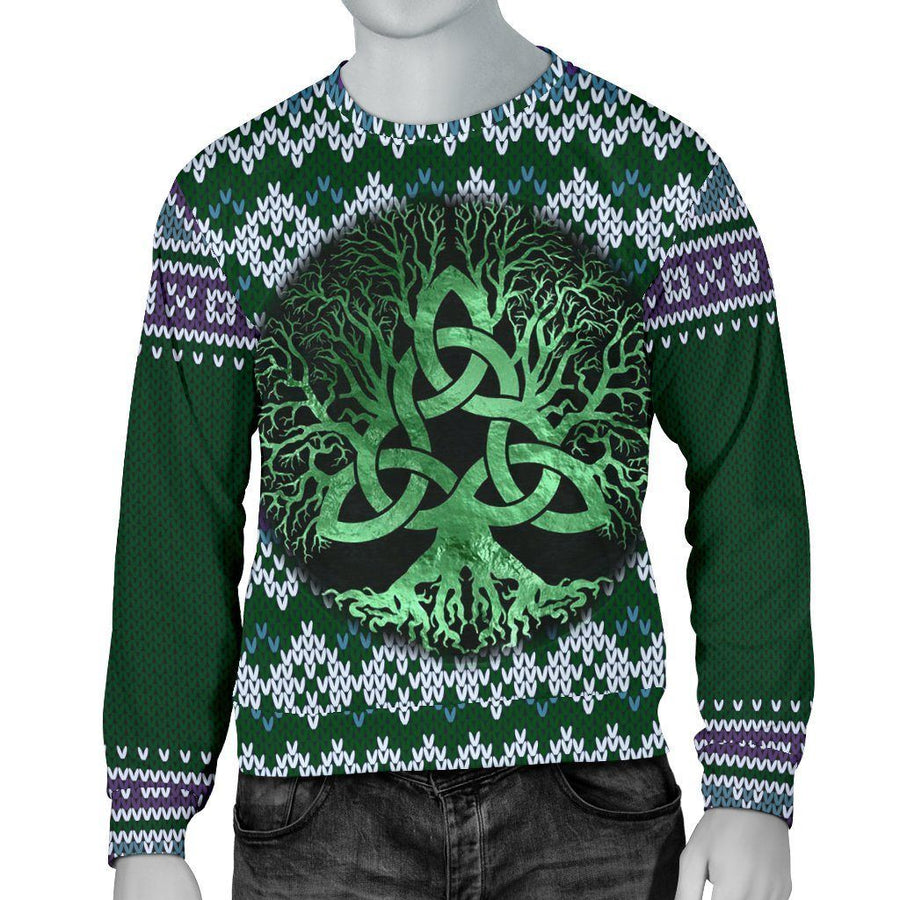 Celtic Triquetra Pagan Yule Sweater Sweater MoonChildWorld