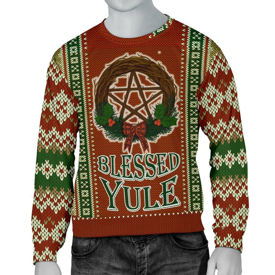 Blessed Yule Pagan Sweater Sweater MoonChildWorld