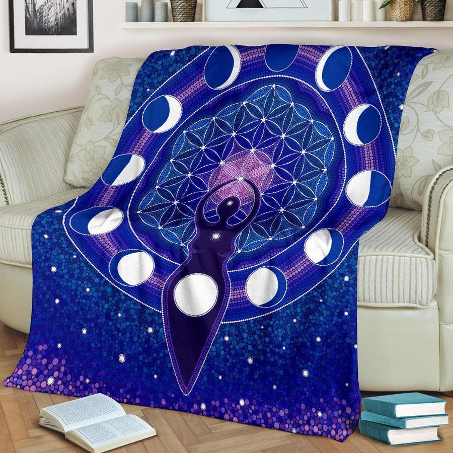 Goddess moon Premium Blanket