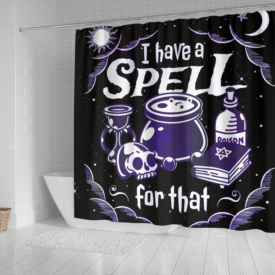Witch spell Shower Curtain Shower Curtain MoonChildWorld