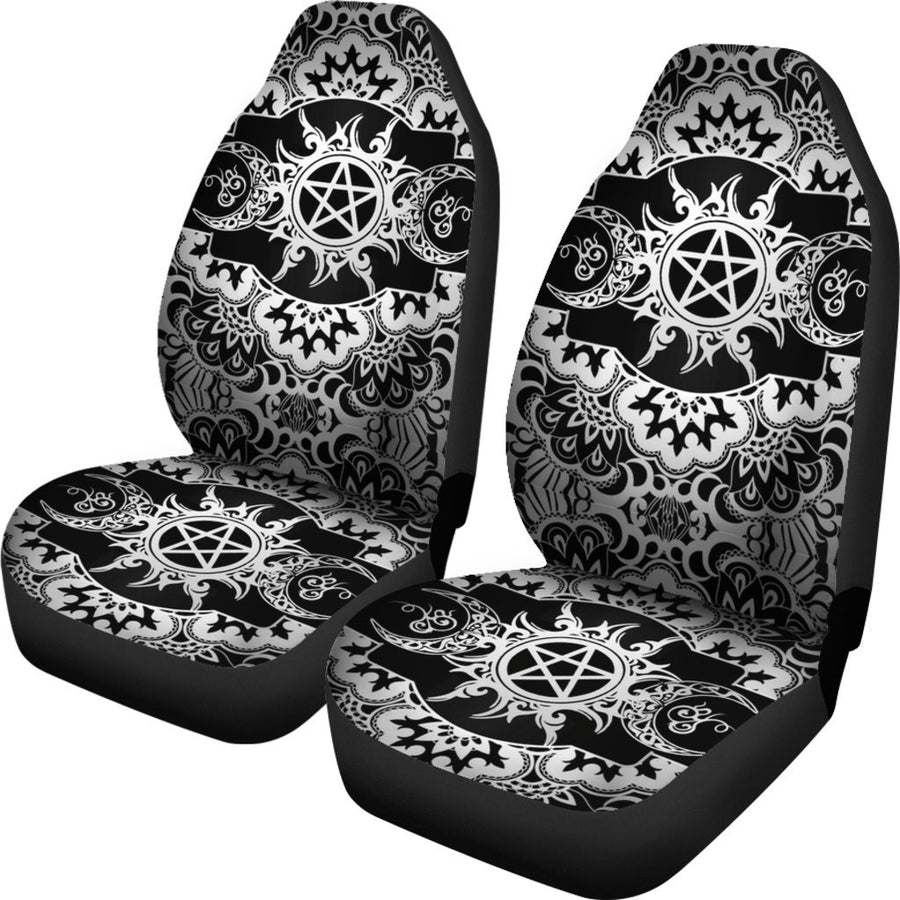 Triple moon wicca Car Seat Covers Car Seat Covers MoonChildWorld