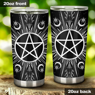 Pentagram moon wicca Tumbler Tumblers MoonChildWorld Tumbler - Pentagram wicca 20oz Large