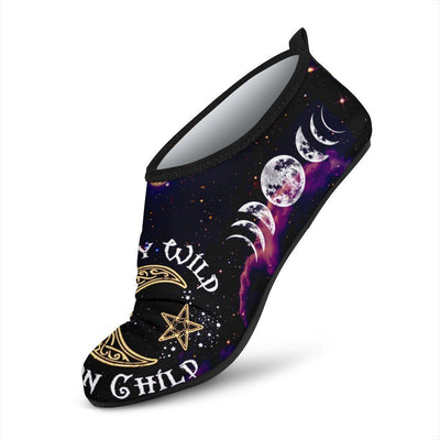 Stay wild moon child wicca Aqua Shoes Shoes MoonChildWorld