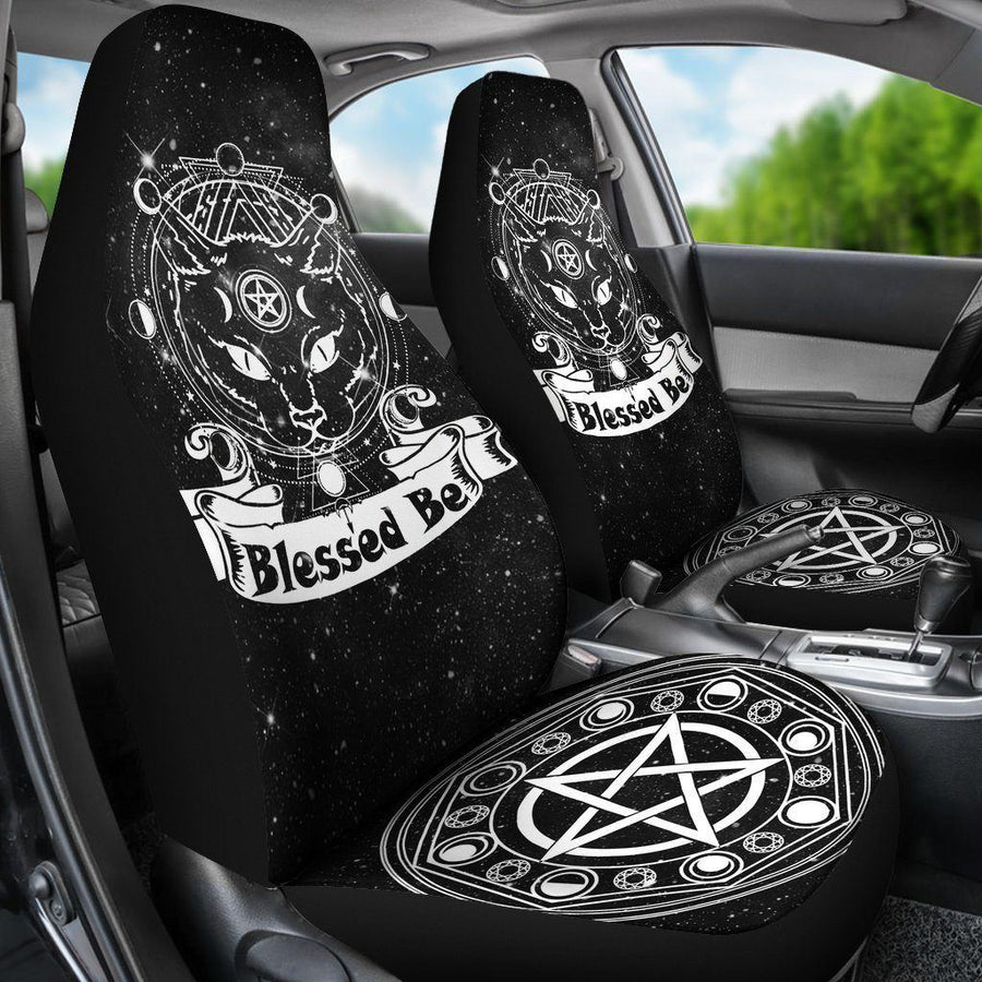 Wicca cat Car Seat Covers Car Seat Covers MoonChildWorld