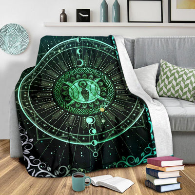 Goddess moon wicca Premium Blanket Premium Blanket MoonChildWorld