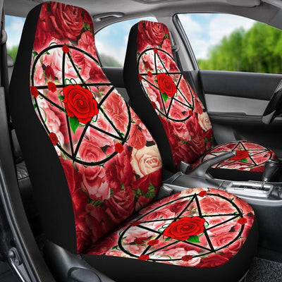 Wicca pentacle Car Seat Covers Car Seat Covers MoonChildWorld