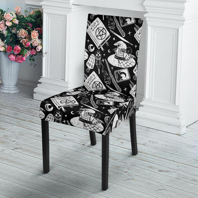 Wicca book Dining Chair Slip Cover Chair Slip Cover MoonChildWorld