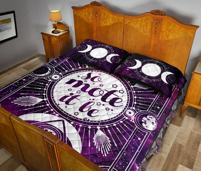 So mote it be wicca Quilt Bed Set Quilt Bed Set MoonChildWorld