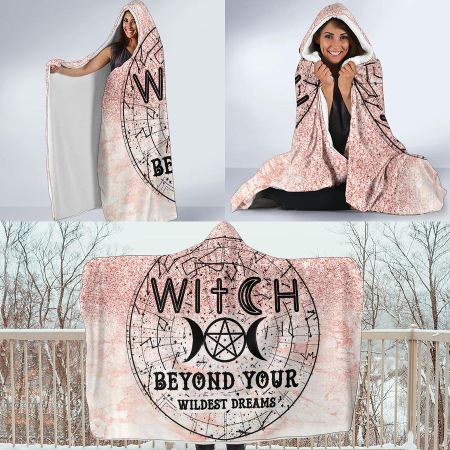 Witch Hooded Blanket Hooded Blanket MoonChildWorld
