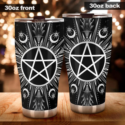 Pentagram moon wicca Tumbler Tumblers MoonChildWorld Tumbler - Pentagram wicca 30oz X-Large