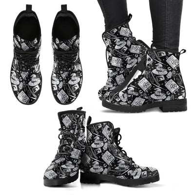 Witchy things Leather Boots Shoes MoonChildWorld