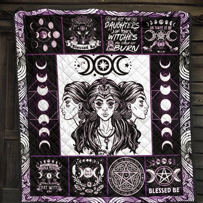 Triple goddess wicca Premium Quilt Premium Quilt MoonChildWorld