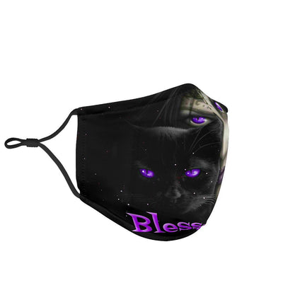 Witchy blessed be wicca face mask Face mask MoonChildWorld