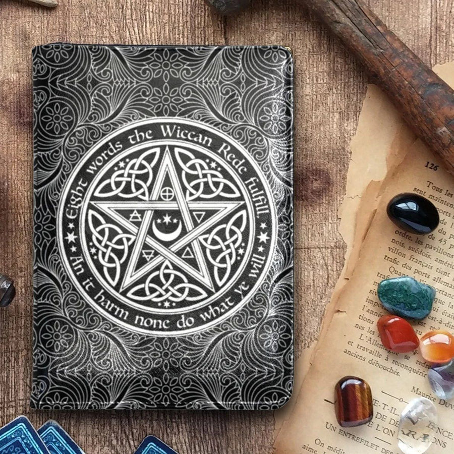 Pentacle wicca leather NoteBook A5