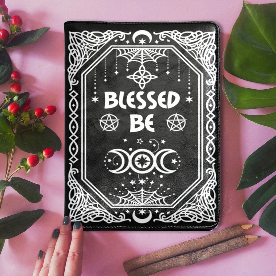 Blessed be Wicca leather NoteBook A5