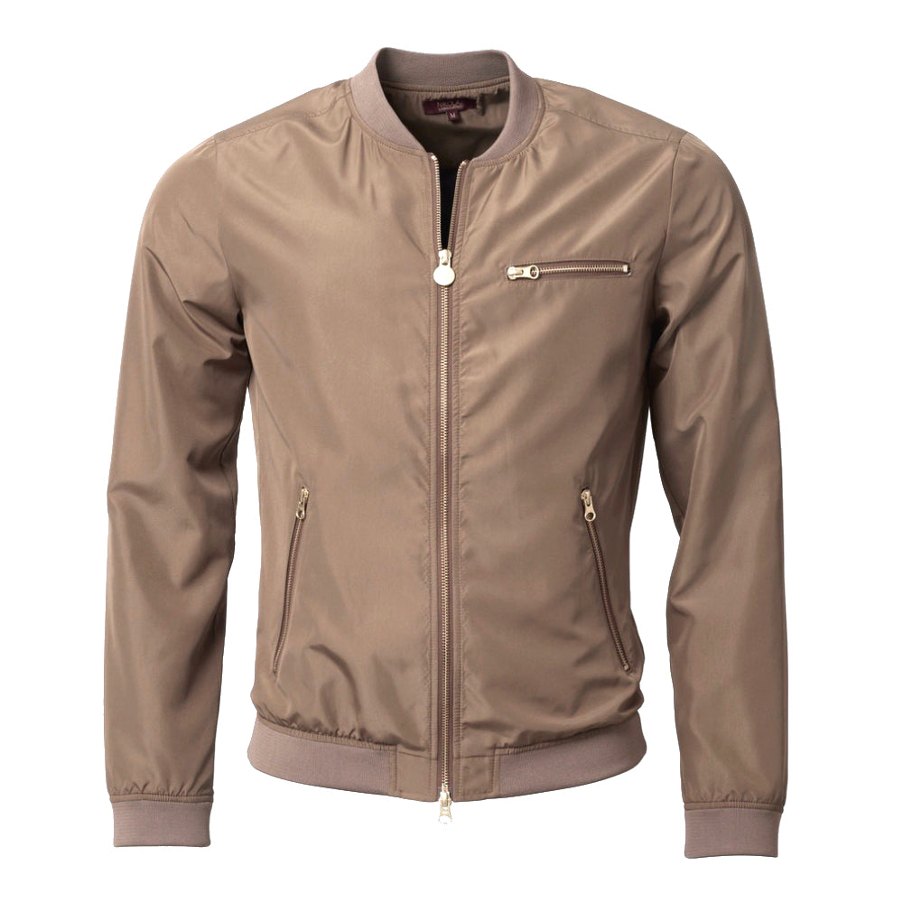 THE NdE ICONIC NYLON JACKET Golden Beige