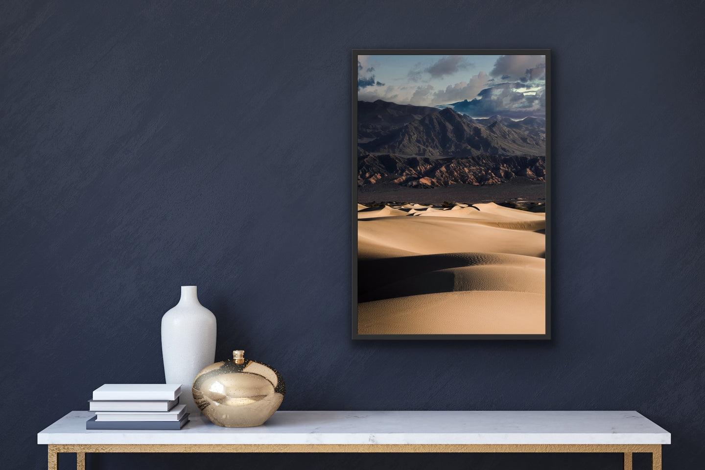 Sand Dunes and Mountains Wall Art