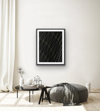 Load image into Gallery viewer, Abstract Black and Gold Lines Wall Art