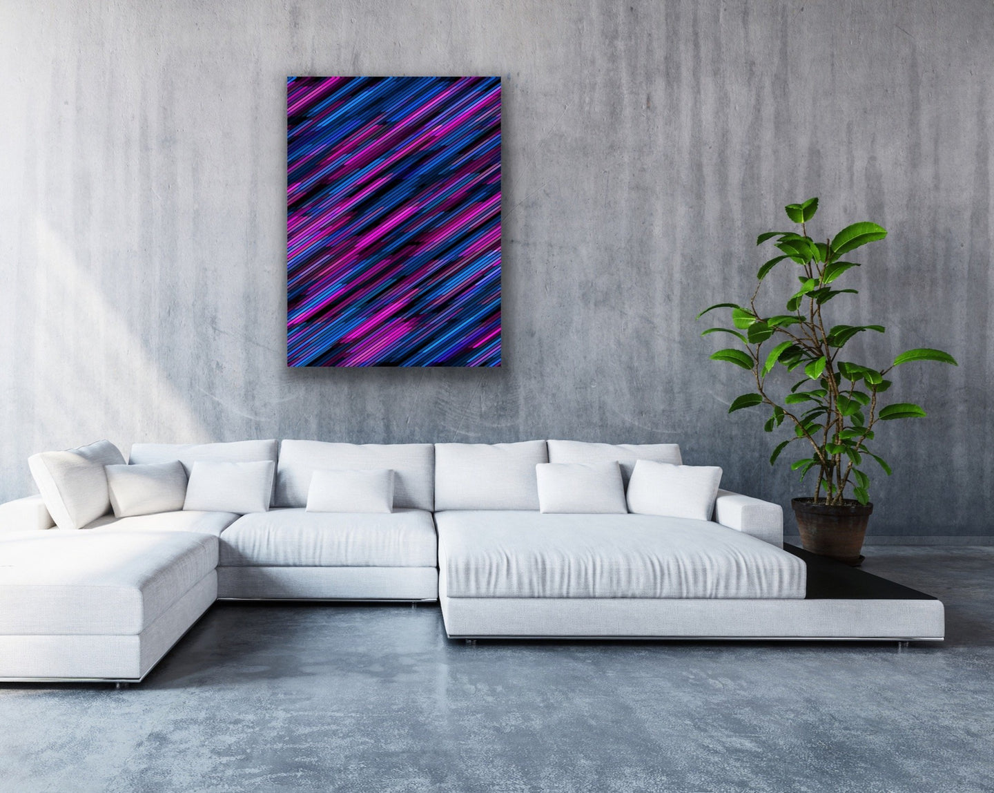 Abstract Diagonal Lines Wall Art