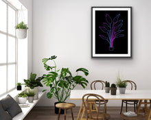 Load image into Gallery viewer, Neon Birds of Paradise Wall Art