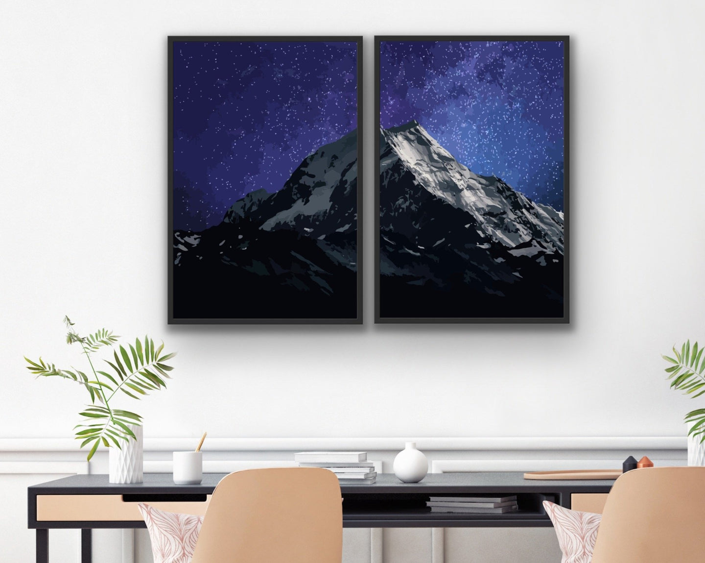 Mountain Galaxy Posters