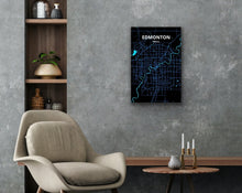 Load image into Gallery viewer, Edmonton Map Art Poster