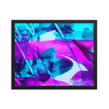 Load image into Gallery viewer, Purple Fiasco Framed poster