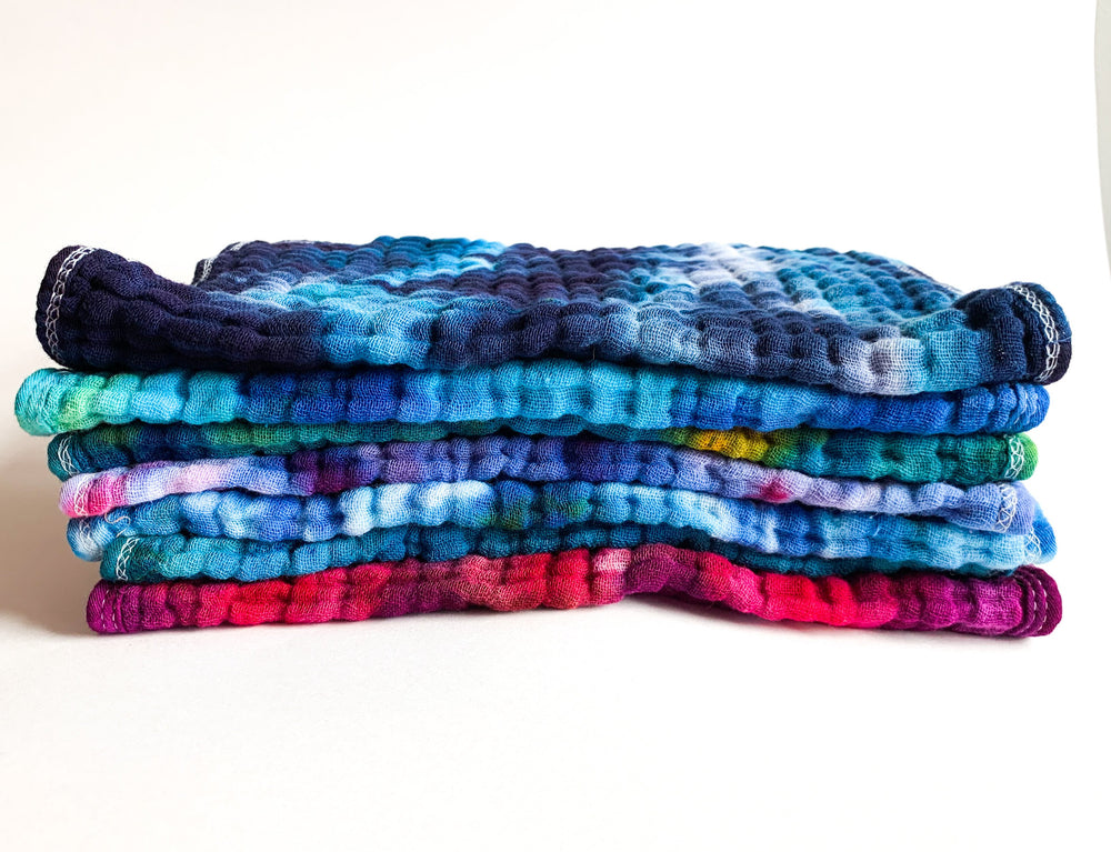 Hand Dyed Reusable Towels