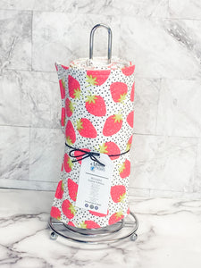 Strawberry Reusable Paper Towels | Strawberry Cloth wipes
