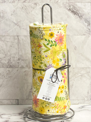 Spring floral Reusable Paper Towels | Floral Cloth wipes