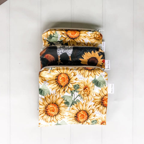 Sunflower Reusable Snack Bags | Reusable Zipper Bags |