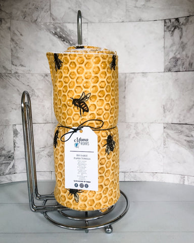 Bee Reusable Paper Towels | Honeycomb Paper Towels