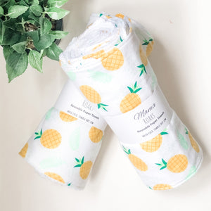 Reusable Paper Towel - Double roll | 16 Pineapple Towels |
