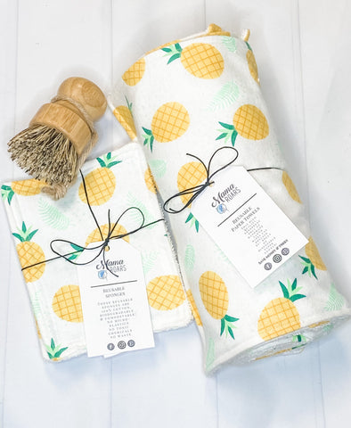 Clean Kitchen Reusable Bundle | Pineapple Reusable Kitchen set