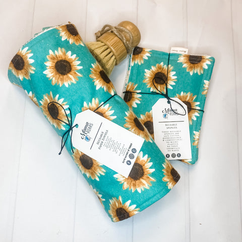 Clean Kitchen Reusable Bundle | Sunflower Reusable Kitchen Set